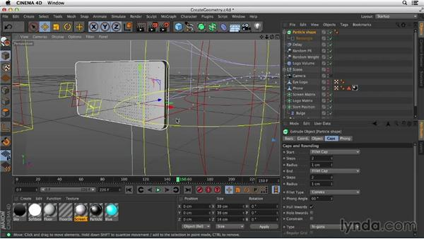 Creating particle shapes and cloning particle geometry: Mograph Techniques: Morphing Particles in CINEMA 4D