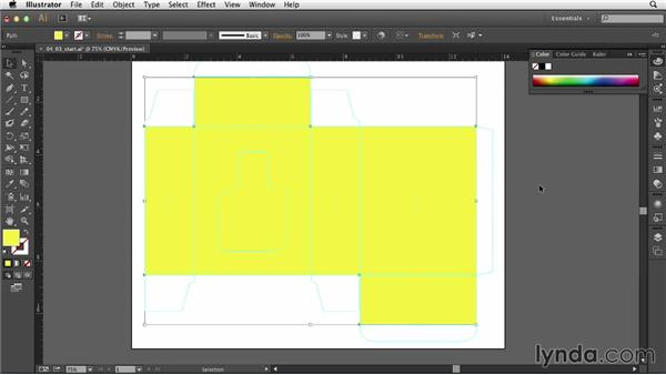 Creating a bleed guide: Print Production Essentials: Packaging