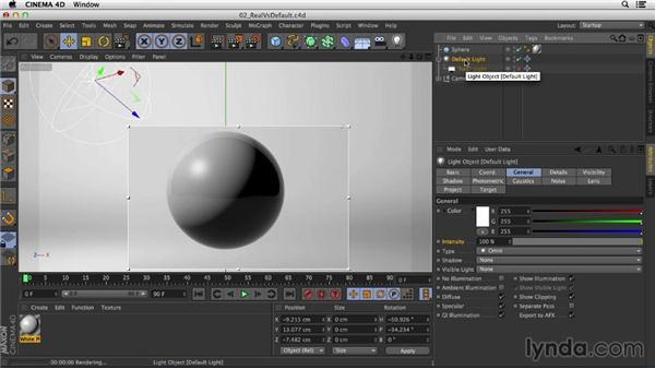 Differences between real light and the CINEMA 4D default light: Studio Lighting in CINEMA 4D