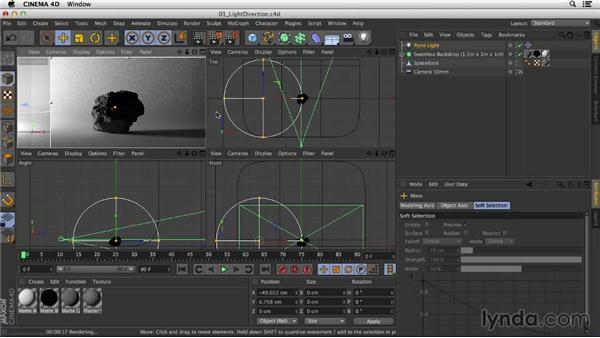 Using light direction to reveal form: Studio Lighting in CINEMA 4D