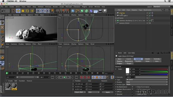Separating objects from their backgrounds: Studio Lighting in CINEMA 4D
