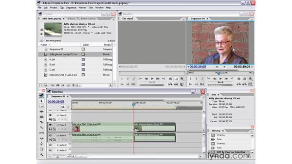 the trim window: Premiere Pro 1.5 Essential Training