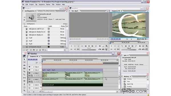 nested sequences: Premiere Pro 1.5 Essential Training