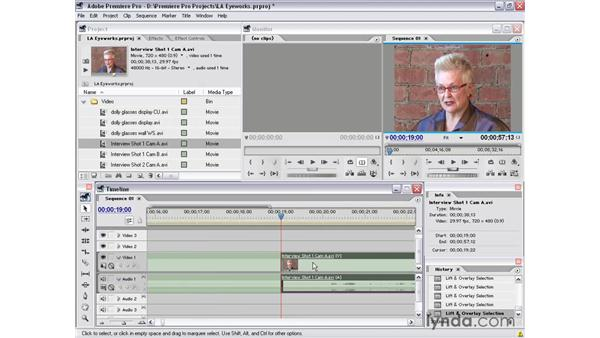 simple trims for transitions: Premiere Pro 1.5 Essential Training