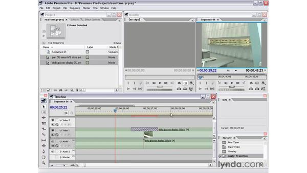 real-time and rendering: Premiere Pro 1.5 Essential Training