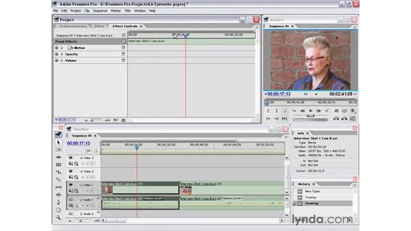 effects controls window: Premiere Pro 1.5 Essential Training