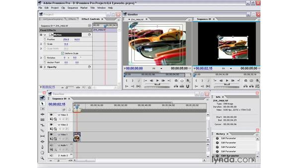 fixed effects: Premiere Pro 1.5 Essential Training