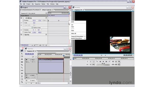 temporal bezier keyframes: Premiere Pro 1.5 Essential Training