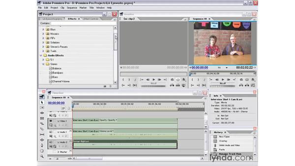 audio features and effects: Premiere Pro 1.5 Essential Training