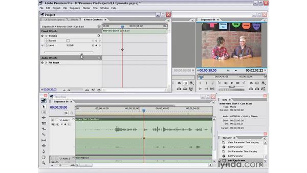 clip audio: Premiere Pro 1.5 Essential Training