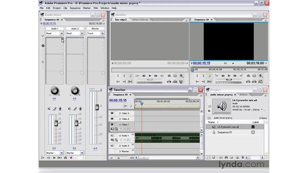 audio mixer: Premiere Pro 1.5 Essential Training