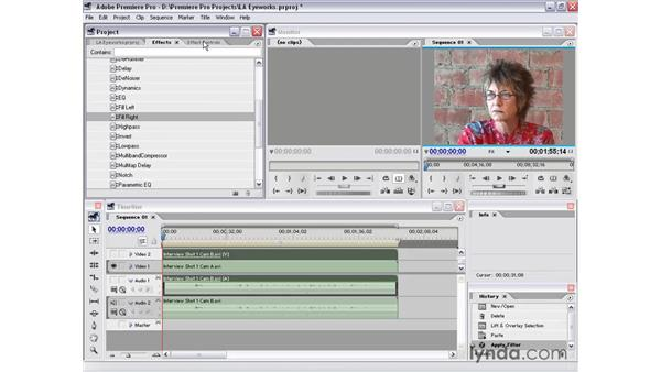 interview shot 1 part 1: Premiere Pro 1.5 Essential Training