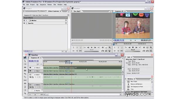 interview shot 1 part 3: Premiere Pro 1.5 Essential Training