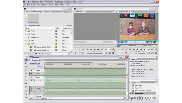 interview shot 1 part 4: Premiere Pro 1.5 Essential Training