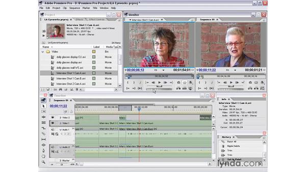 interview shot 1 part 5: Premiere Pro 1.5 Essential Training