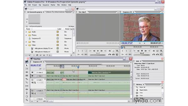interview shot 1 part 6: Premiere Pro 1.5 Essential Training