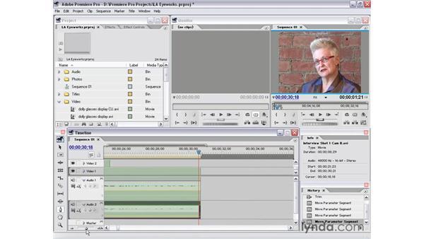 interview shot 1 part 7: Premiere Pro 1.5 Essential Training