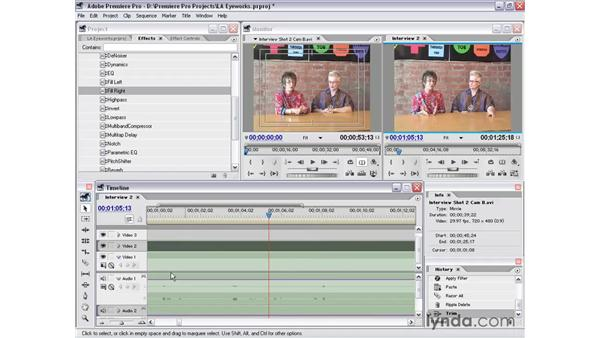 interview shot 2: Premiere Pro 1.5 Essential Training