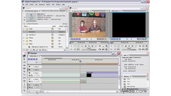 shortening a nested sequence: Premiere Pro 1.5 Essential Training