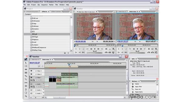 interview shot 3: Premiere Pro 1.5 Essential Training