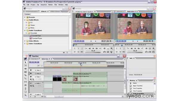 interview shot 4 part 1: Premiere Pro 1.5 Essential Training