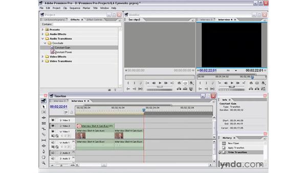 interview shot 4 part 2: Premiere Pro 1.5 Essential Training