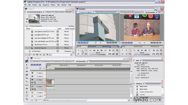 intro and L cut: Premiere Pro 1.5 Essential Training