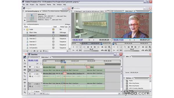 sweetening part 1: Premiere Pro 1.5 Essential Training