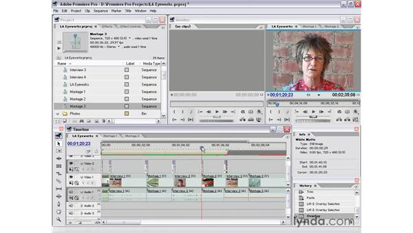 sweetening part 3: Premiere Pro 1.5 Essential Training