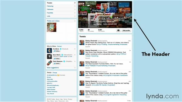 Your Twitter profile: Twitter for Musicians and Bands