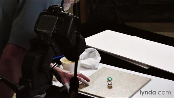 Setting up a ring for a shot: Product Photography for Jewelry