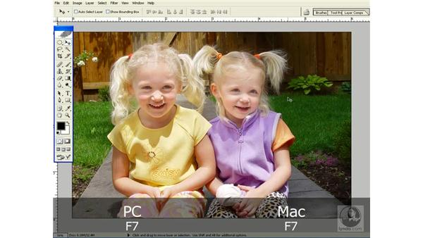 docking palettes together: Photoshop CS Power Shortcuts