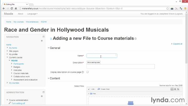 Uploading your course information: Moodle 2.5 Essential Training