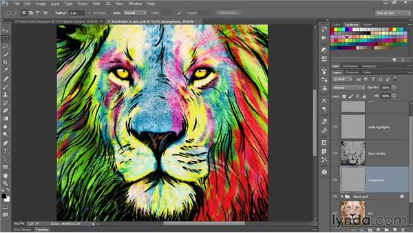 261 Blending the final false-color artwork: Deke's Techniques