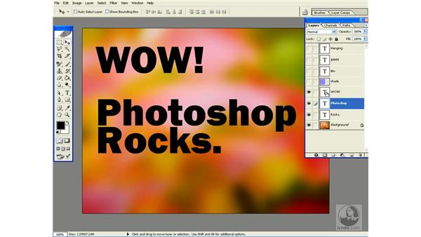 type tool shortcuts: Photoshop CS Power Shortcuts