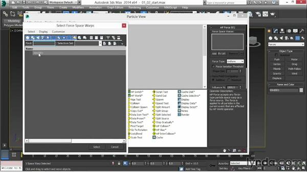 Adding MassFX operators: 3ds Max 2014 New Features