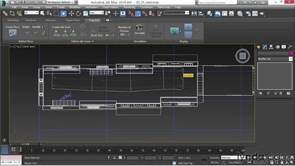 Creating a Populate flow: 3ds Max 2014 New Features