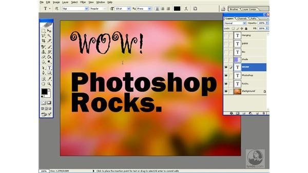 font previews: Photoshop CS Power Shortcuts