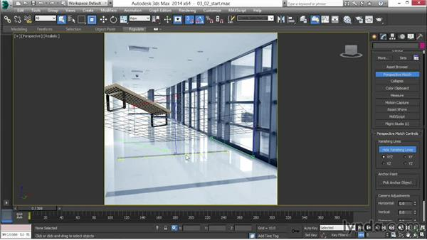 Creating perspective lines: 3ds Max 2014 New Features