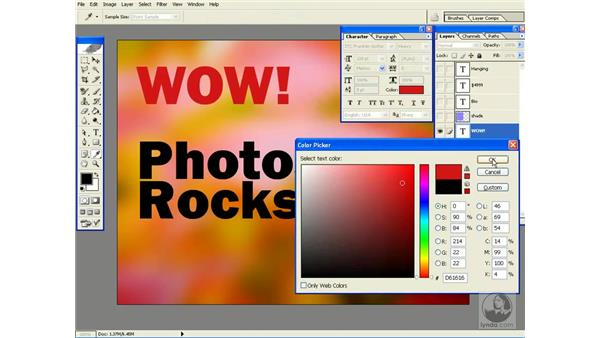 changing multiple type layers at once: Photoshop CS Power Shortcuts