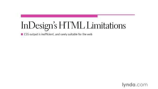InDesign's HTML limitations: InDesign CS6 to HTML