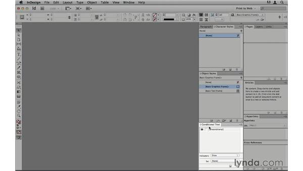 Creating a print-to-web workspace: InDesign CS6 to HTML