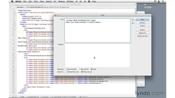 Cleaning up CS6 problem lists: InDesign CS6 to HTML