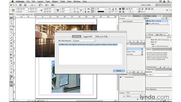 Adding alt text to images: InDesign CS6 to HTML