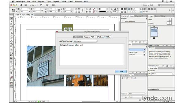 Exporting grouped images and objects: InDesign CS6 to HTML