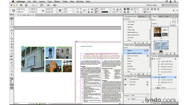 Ordering content with the Articles panel: InDesign CS6 to HTML