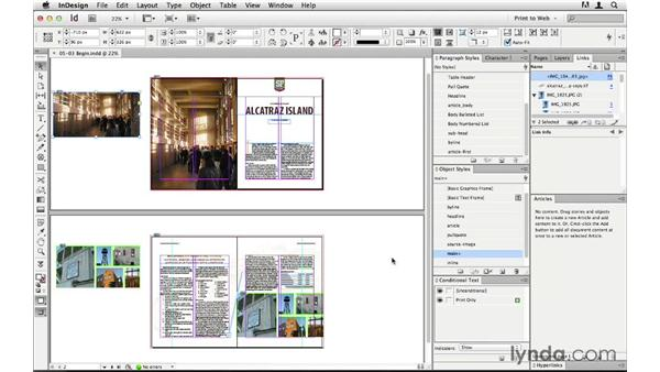 Preparing a full layout for export: InDesign CS6 to HTML