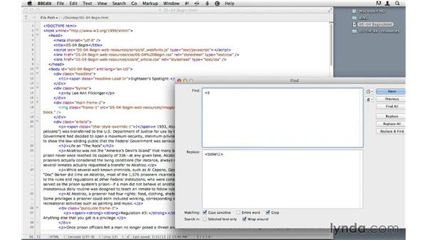 Cleaning up the exported HTML: InDesign CS6 to HTML