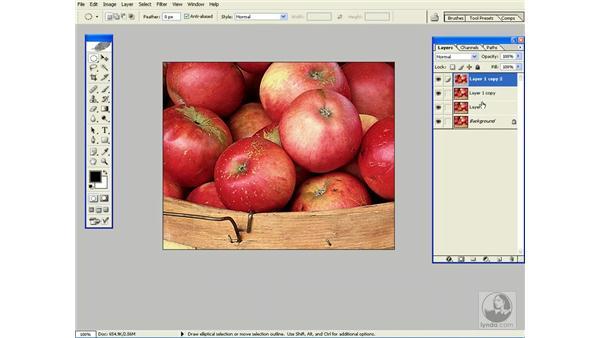 duplicating layers: Photoshop CS Power Shortcuts