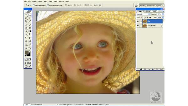 layer blending modes: Photoshop CS Power Shortcuts